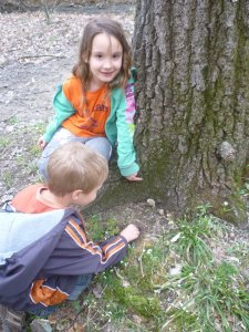 kids with morels